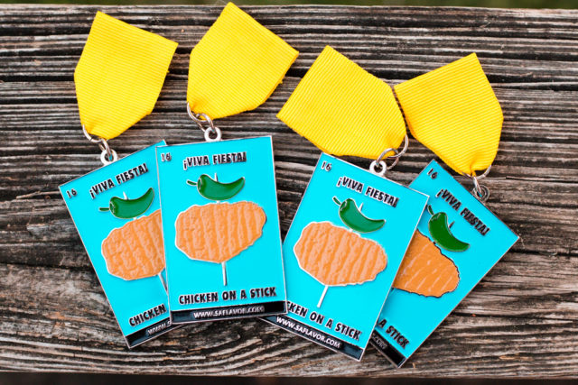 Fiesta Medal Guide Chicken on a Stick 2016 Fiesta Medal SA Flavor-1