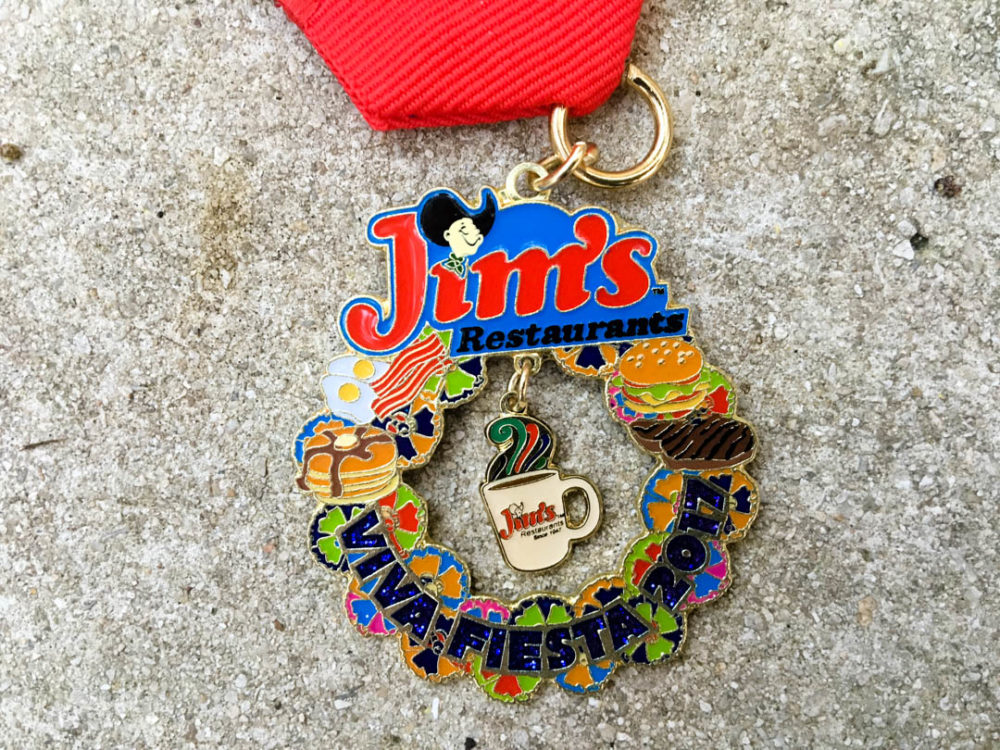 Jim's Restaurant Fiesta Medal 2017
