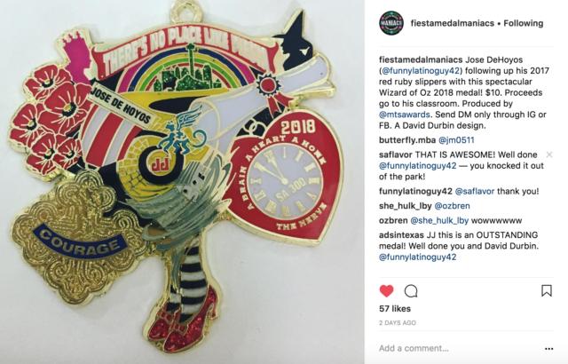 Jose De Hoyos Wizard of Oz David Durbin Fiesta Medals 2018