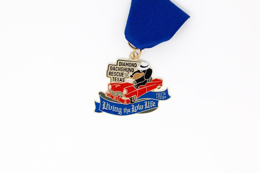 Diamond Dachshund Rescue of Texas Low Life Fiesta Medal 2019